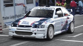 Ford Escort WRC on Hillclimb! Accelerations, Turbo Anti-Lag & Sequential Gearbox Backfires!