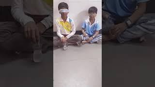 Kids blindfold bottle flip   7yrs, 11yrs  #nephews