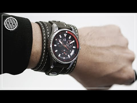 [Leather Craft] Making a handmade leather watch band / Free PDF pattern