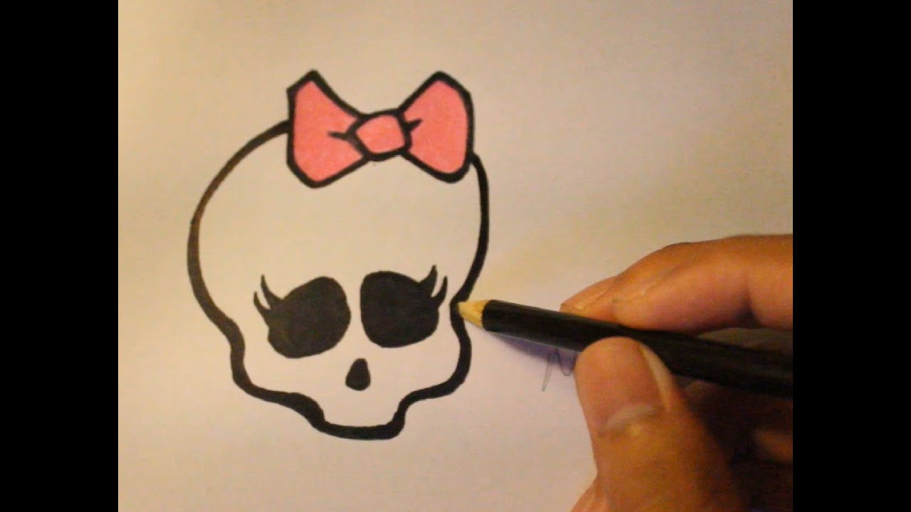 Gallery For gt Simple Girly Skull Drawings