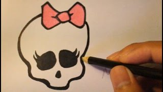 How To Draw Skull From Monster High Step By Step