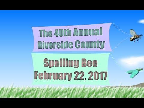 2017 Riverside County Spelling Bee