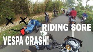 VESPA ACCIDENT ! | RIDING SORE KE PELOSOK BANDUNG | Diary#5