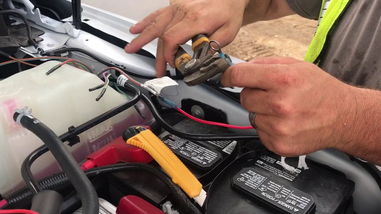 2017 F350 up fitter switches wire location - YouTube