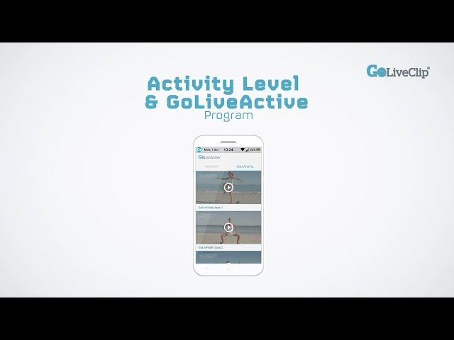 GoLivePhone Activity Level and GoLive Active Program
