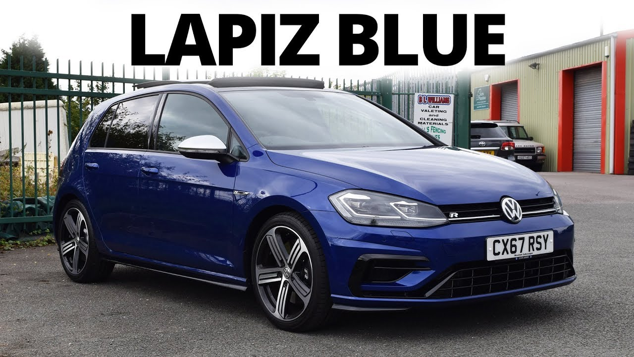 Lapiz Blue 2018 Golf R Walkaround 4k