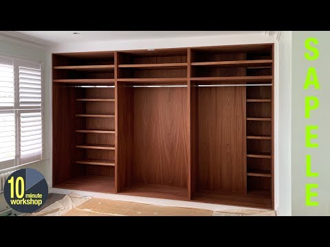 Built in wardrobes with great shelving ideas [video #342]