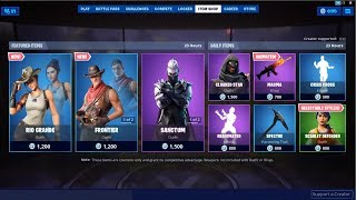 *NEW*Rio Grande & Frontier Skins! Fortnite Item Shop August 6, 2019