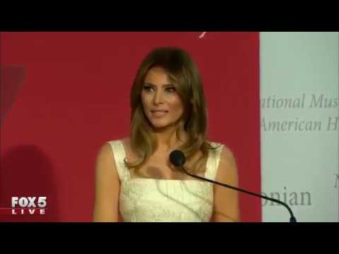 First Lady Melania Trump donates dress