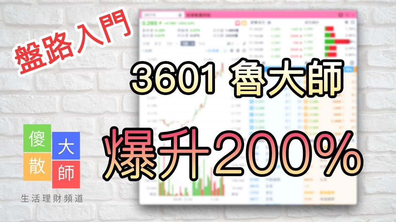 【盤路入門】3601 魯大師爆升2倍|股票入門|新手教學|看盤路買股票|盤路|股票|投機|崩盤|反彈|短 ...