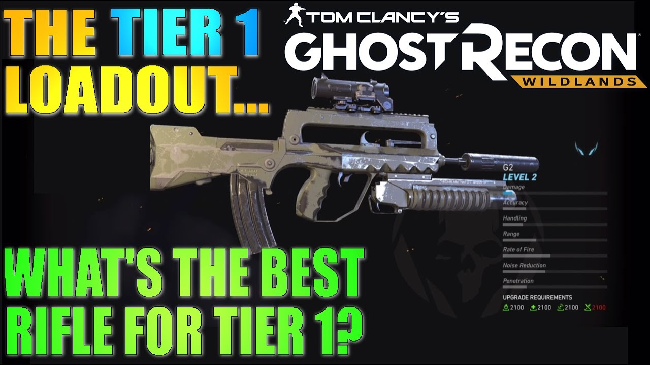 building the best tier 1 loadout in ghost recon wildlands
