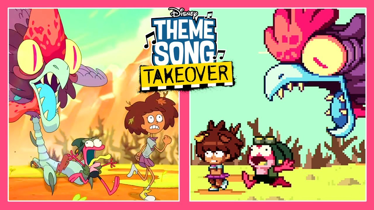 Theme Song Takeover Side by Side | Amphibia | Disney Channel Animation