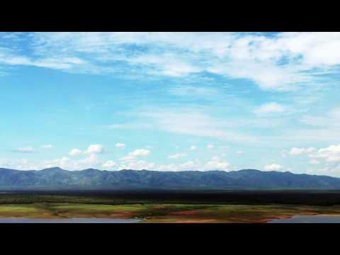 Flying over Lake Kariba into Changa