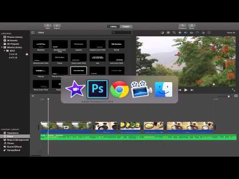 imovie how to put title text on video