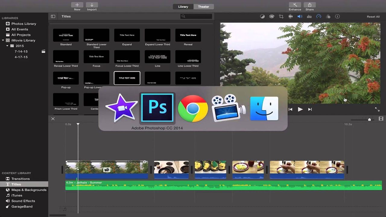 move text around in imovie
