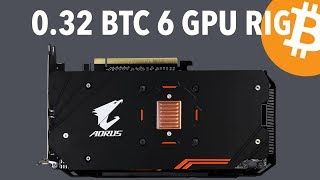 Building 5th 6 GPU Gigabyte RX 570 4GB Mining Rig For 0.32 BTC | It's A Steal! | Bitcoin $7800