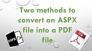 ASPX to PDF thumbnail