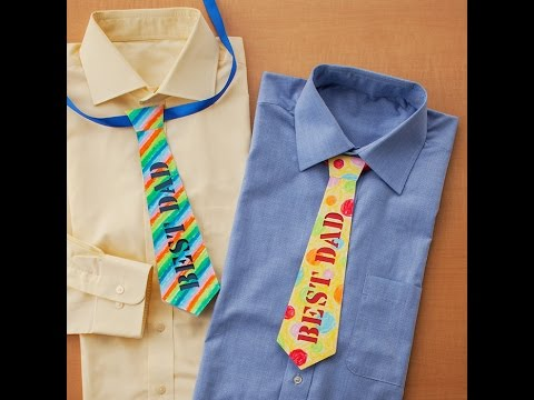 Canvas Project: Paper Necktie Card