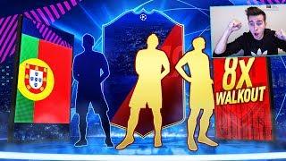 OMG! 8x WALKOUT! PACZKI UCL PREMIUM + NAGRODY ZA FUT CHAMPIONS! | FIFA 19