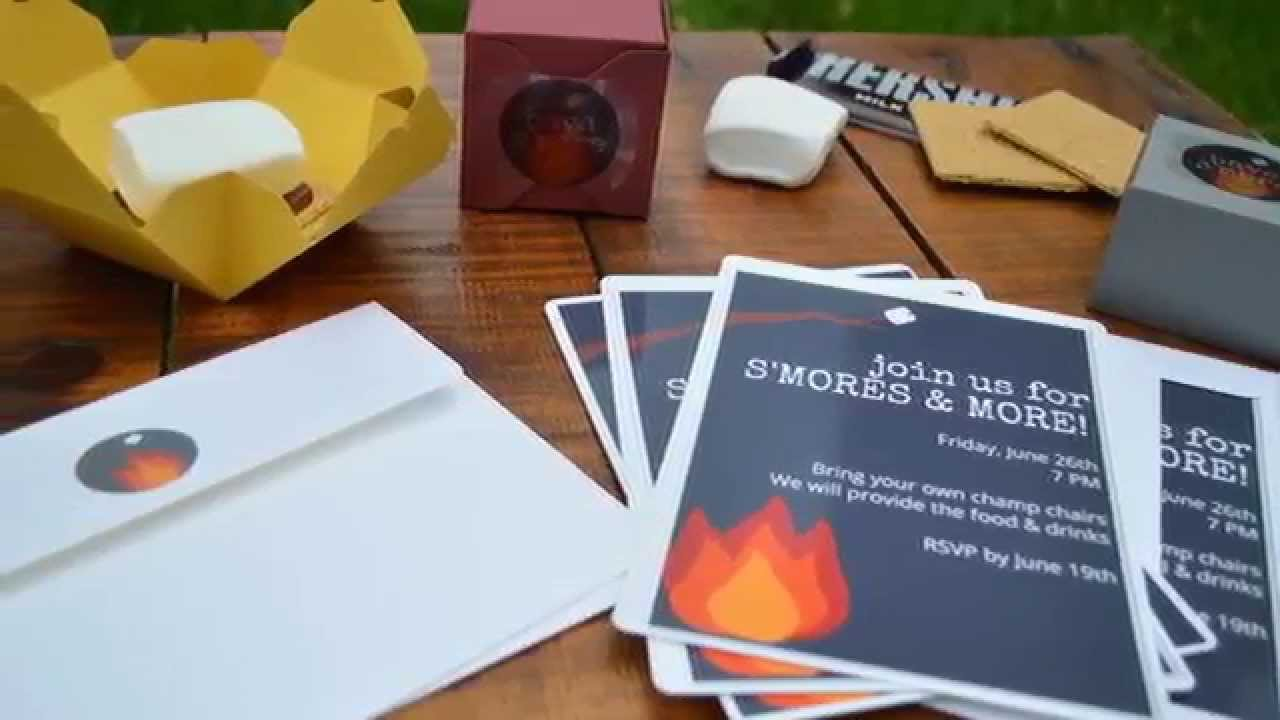 Bonfire Party - Invitation and Favors - YouTube