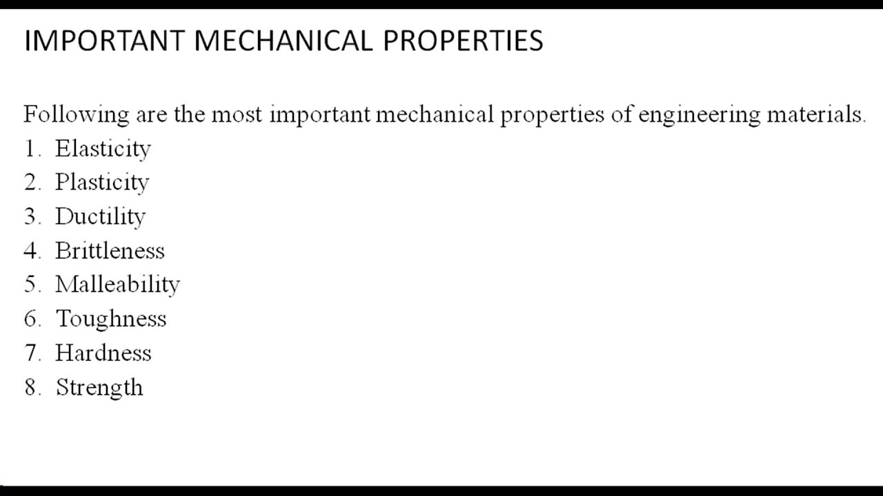 properties of engineering materials Cact home engineer properties of material engineering or more often called mechanical properties deals with material's response to tension, compression, shear, and.