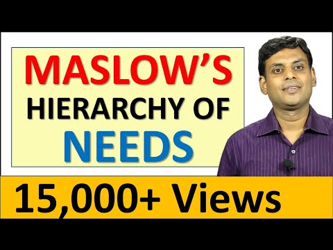 26. Maslow's Hierarchy of Needs - Marketing Video Lecture by Prof. Vijay Prakash Anand