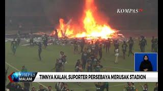 Kalah dari PSS Sleman, Suporter Persebaya Rusak Stadion Gelora Bung Tomo