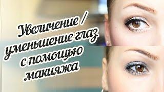 как сделать большие глаза меньше