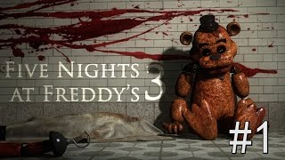 QUASE INFARTEI!!! - FIVE NIGHTS AT FREDDY'S 3 - PARTE 1
