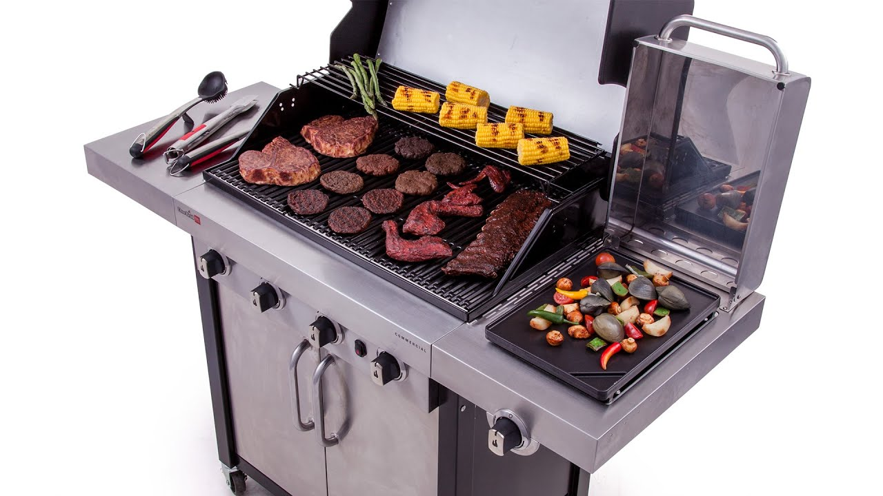 Char broil commercial series gas grill - Char Broil Commercial Series 4 Burner Gas Grill Lowe S Exclusive