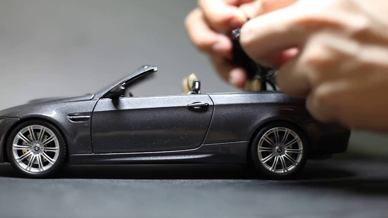 kyosho 1 18 diecast bmw m3 e93 convertible youtube. Black Bedroom Furniture Sets. Home Design Ideas