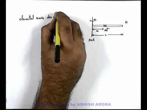 9. Class 11th Physics | Rigid Body Dynamics | Moment of Inertia of a Thin Rod | by Ashish Arora (GA)
