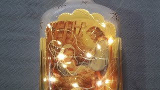 Garrafa Decorativa Especial para o Natal