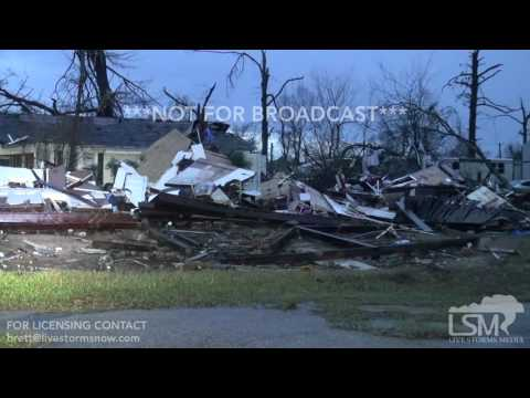 01-21-2017 Hattiesburg, Ms extreme tornado damage to homes fire station church
