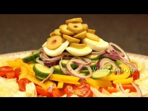 Vegetable Salad With Thousand Island Dressing Recipe - Video Culinary