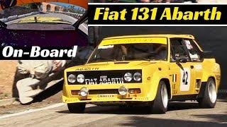 Fiat 131 Abarth (1980) Actions + Onboard - 2018 Bologna San Luca Historic Hillclimb Race