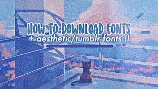 Download How To Tumblr Fonts And Tumblr Font Pack Editing