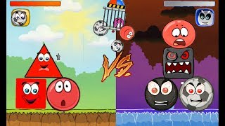BLACK BALL & BLUE BALL & RED BOX & RED BALL 'FUSION BATTLE' with RED BALL 3 & RED BAL 4