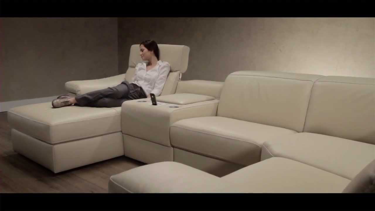 Sectional Sofa With Motion And Docking Station B760 Leather Editions    YouTube