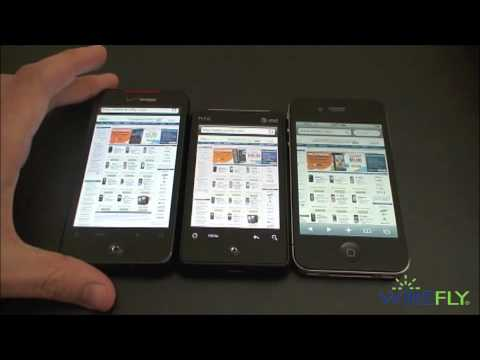 Speed Test: iPhone 4 vs. HTC Incredible vs. HTC Aria