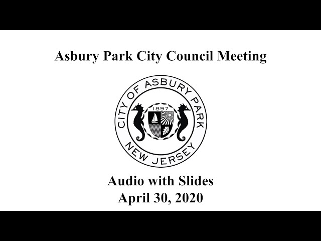 Asbury Park City Council Meeting - April 30, 2020
