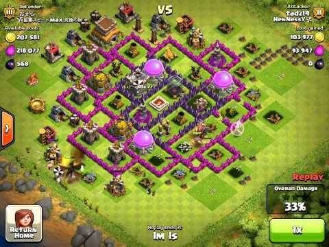 Clash of Clans Funny Air Bomb Troll