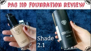Pac Hd foundation review 2.1 shade