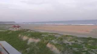 愛知県田原市の赤羽根にあるロコ海岸。サーフィンの世界大会が行われた...