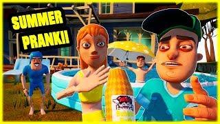 BUBBLE SUMMER FAMILY POOL PRANK!!! - Hello Neighbor Mod