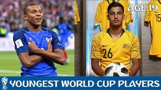 10 youngest players at the 2018 world cup