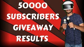 50K SUBSCRIBERS GIVEAWAY RESULTS