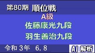第80期 順位戦 A級 1回戦:佐藤康光九段 vs 羽生善治九段
