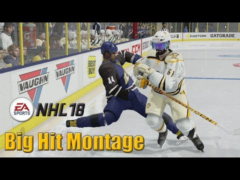 NHL 18 - Big Hit Montage