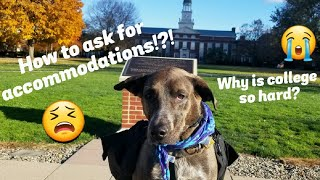 How to ask for accomodations in college?!? | From a service dog handler